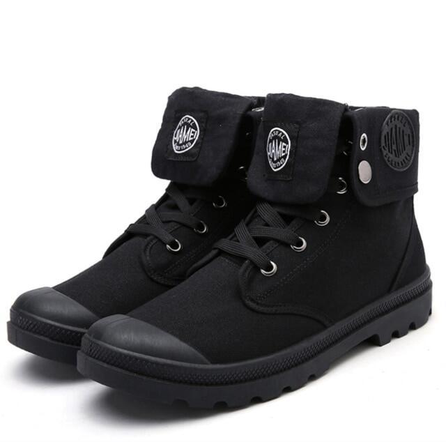 Hình ảnh Giày vải cổ cao cho nam, giày bốt chiến thuật quân đội, giày du lịch Sa Mạc, chiến đấu ngoài trời, bốt đến mắt cá chân, màu xám, đen