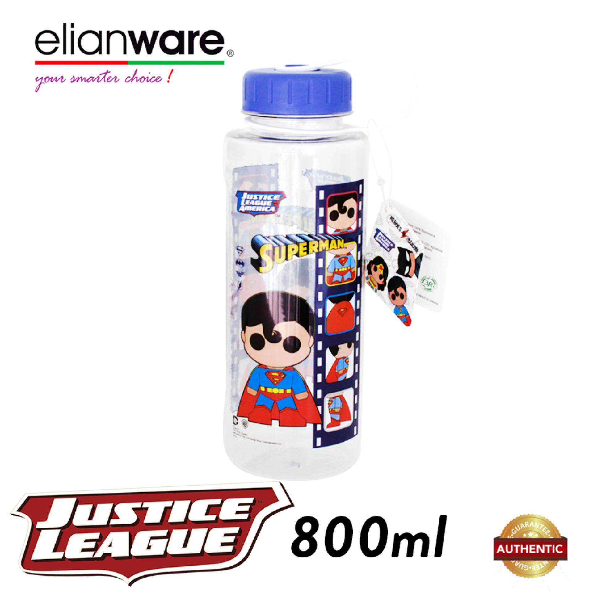 Elianware DC Justice League 800ml BPA Free Hero Film Water Tumbler