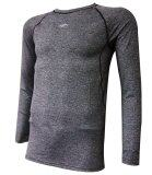 AMBROS Long Sleeve Base Layer Shirt - Grey