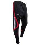 AMBROS Slim Fit Poly TrackPants - BLACK / RED