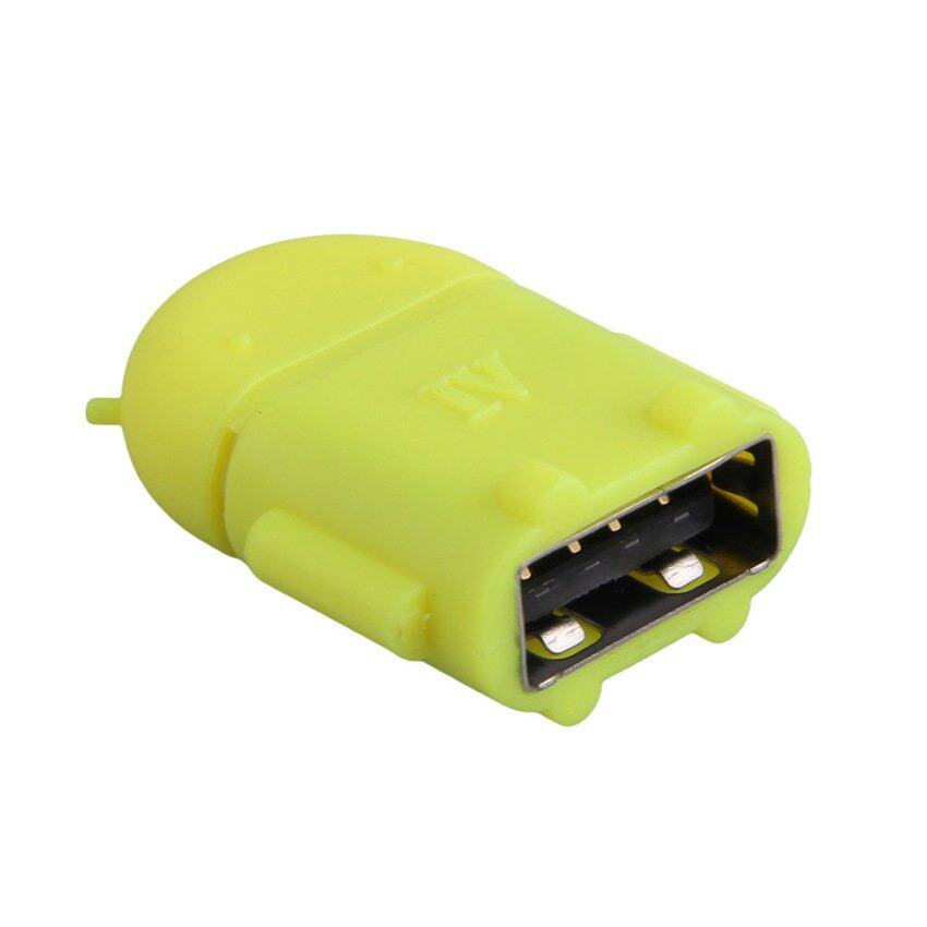 Android Robot Smart Phone Micro USB OTG (Yellow)