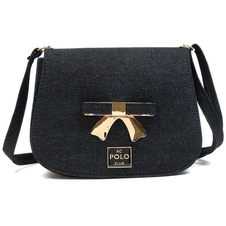 Angel Court Polo ACP67-1788 Cross-body Bag - Jean Black