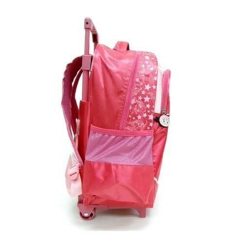 "Angry Birds Stella School Trolley Bag 16"" - Pink Colour"