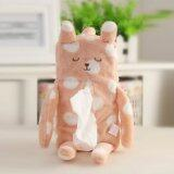 Animal Plush Tissue Box Cover - Pink Polka