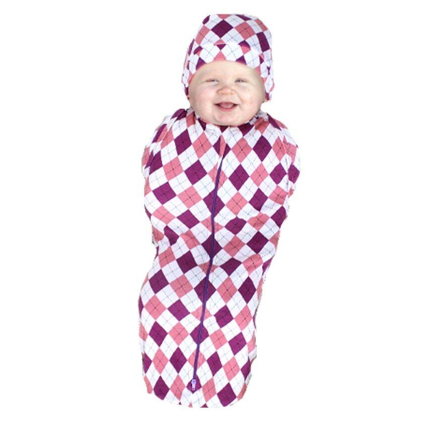 Authentic CuddleMe Hybrid Swaddlepod - DIAMOND PINK