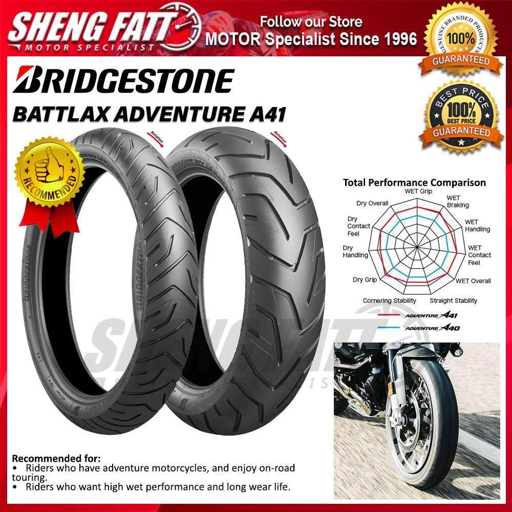 BRIDGESTONE BATTLAX ADVENTURE A41 MOTORCYCLE TYRE (ADVENTURE TIRE) : 90/90 VR21 - 190/55 ZR17