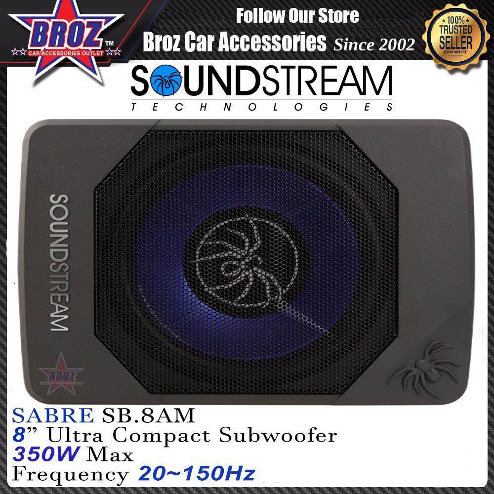 "SoundStream SB.8AM 8"" 350W Super Flat Active Underseat Subwoofer"
