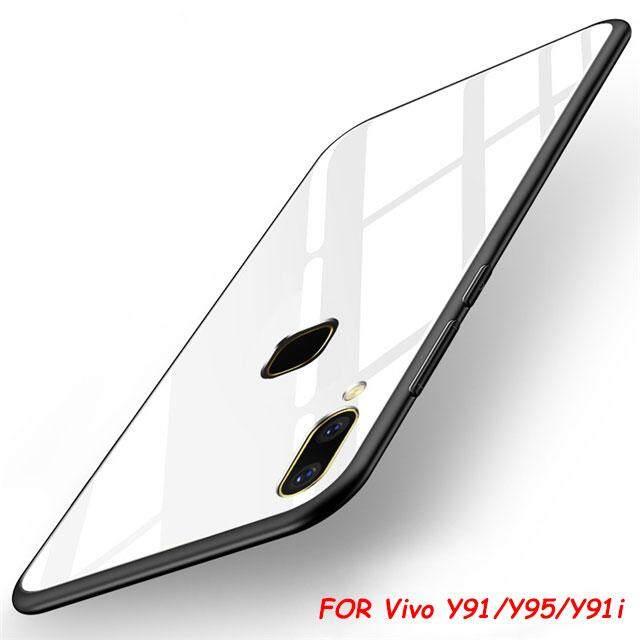 ลดสุดๆ สำหรับ VIVO Y91/Y95/Y91i โทรศัพท์เคสบางพิเศษ Slim กระจกเทมเปอร์ SHELL Anti - Scratch ฝาครอบอุปกรณ์เสริม