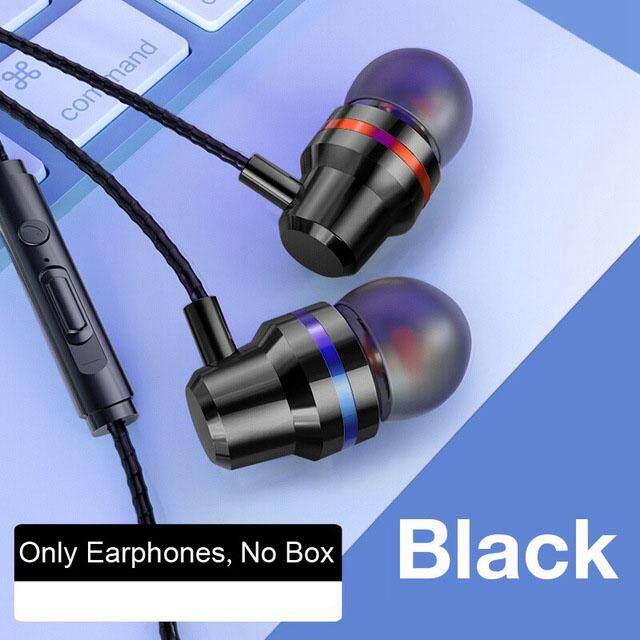 3.5 มม.หูฟังในหูหูฟังแบบมีสายหูฟังเพลงสำหรับ Xiaomi Samsung สมาร์ทโฟน iPhone พร้อมไมโครโฟนมีสายชุดหูฟัง