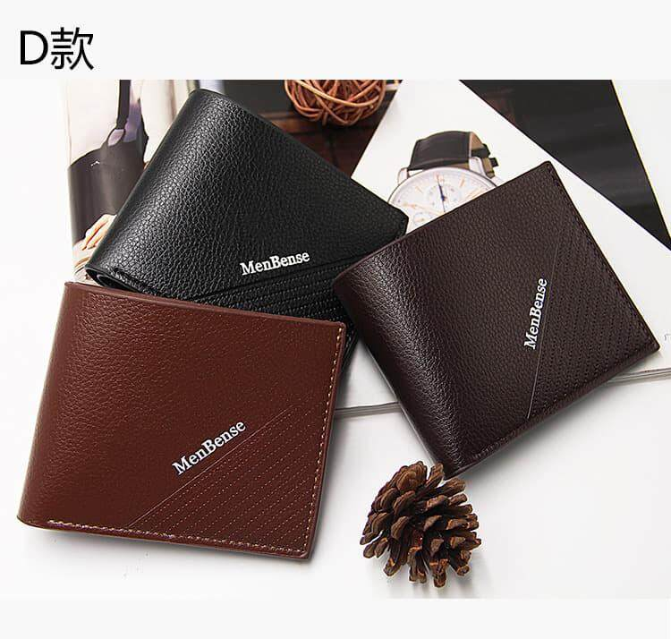 [M\'sia Warehouse Direct] 2019 Korean Series Men\'s Leather Wallet Bi-Fold Fengshui Wallet Euro Italy Designer Best Gift Clutch Card Coins Cash Slot With Zip Portable Hand Carry Bag Luxury Top Material Genuine Leather Halal Dompet Kulit