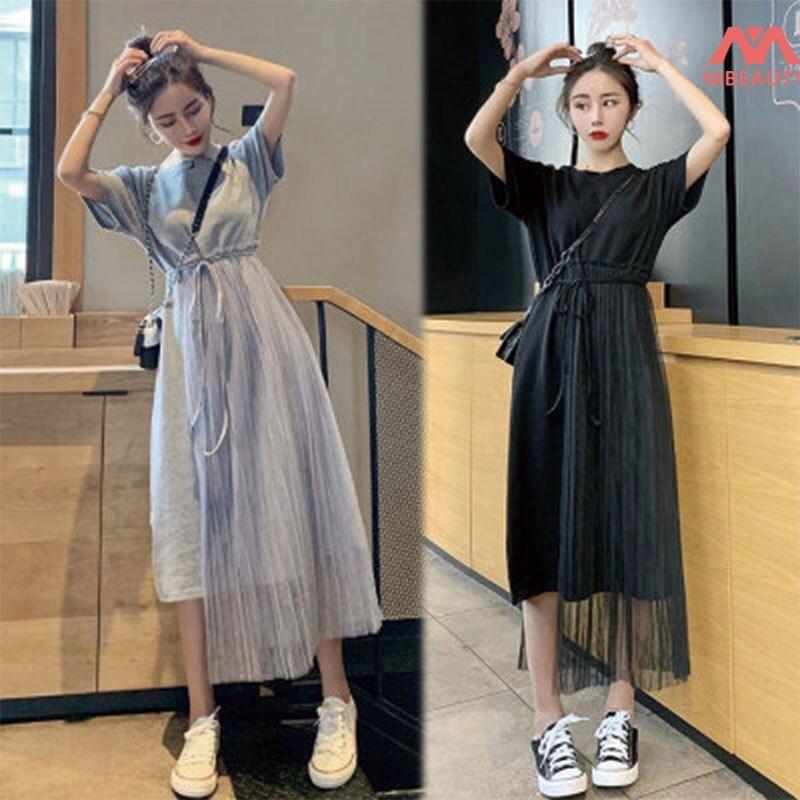 Hình ảnh Váy Lưới Siêu Cổ Tích Eo Thon Dài Vừa Phải Váy Ngắn Tay Sáng Bóng Váy Hộp Đêm