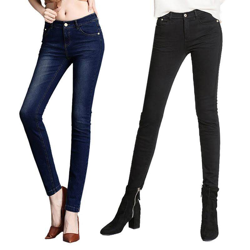 KM Women Skinny Jeans / Slim Fit Jeans [M402-2H]