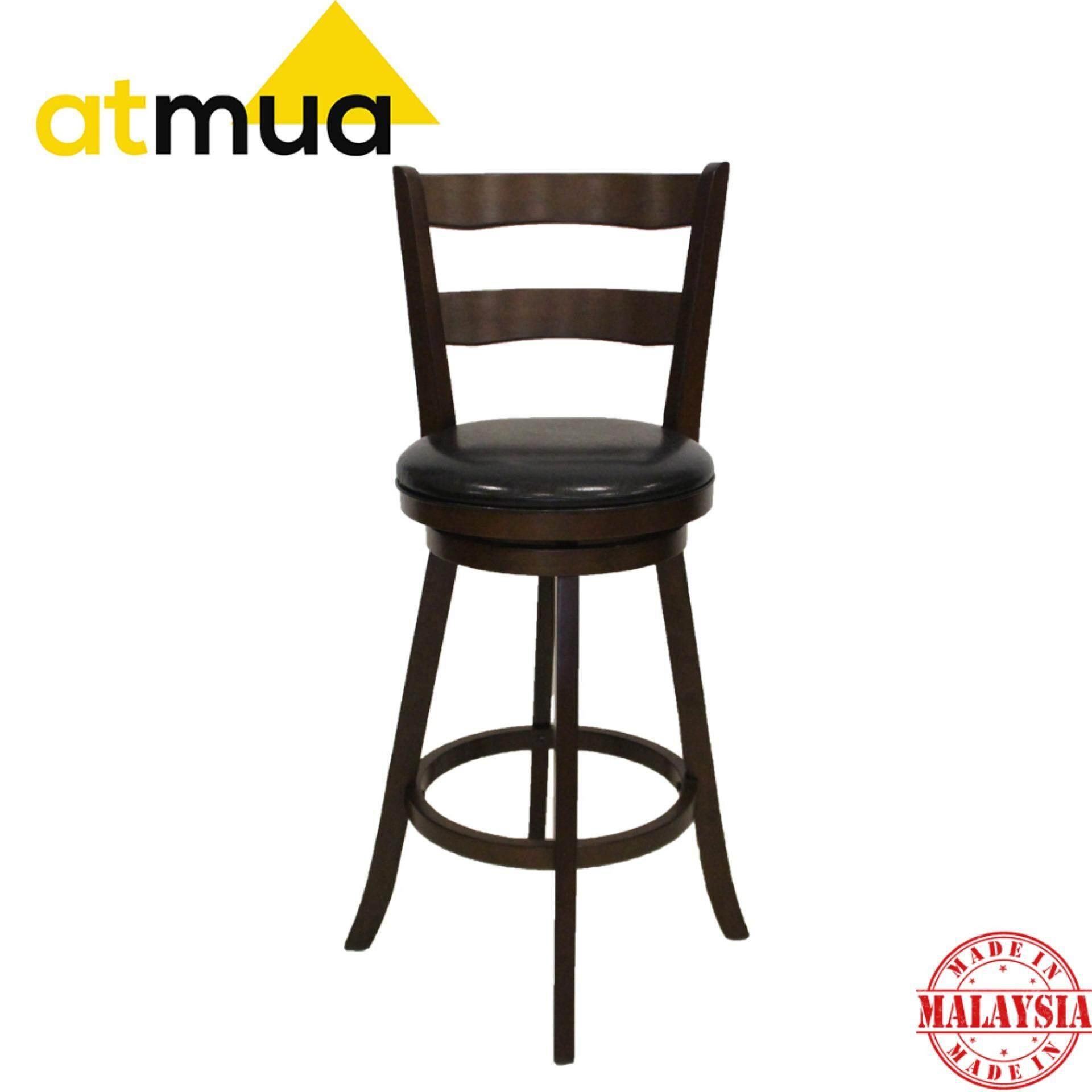 Atmua Estima Swivel Bar Chair - Height 29 inch [Full Solid Wood]