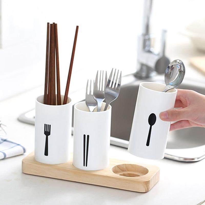 FIstore 1 Không Gian Nhà Bếp Nhà Tổ Chức Nhà Bếp 3 trong 1 Bắc Âu hiện đại Thiết kế tối giản thoát Bộ đồ ăn đũa lồng nhựa bảo quản hộp