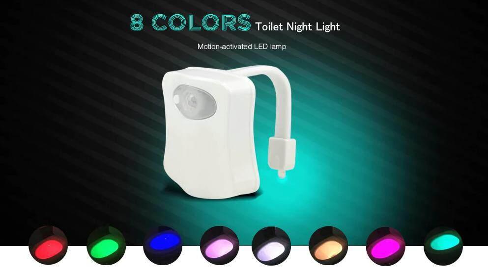 LED Motion Sensor Automatic Toilet Bowl Night Light