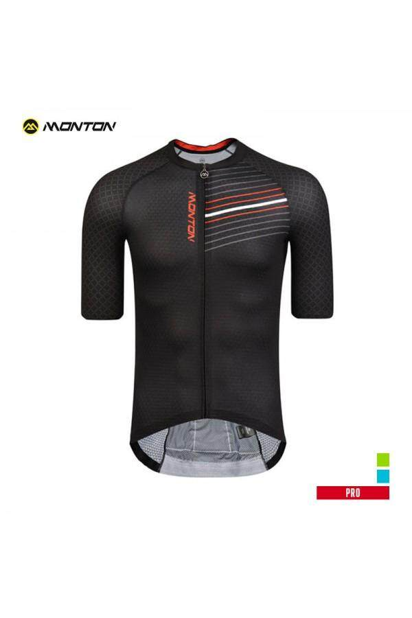 MONTON PRO MENS SHORT SLEEVE CYCLING JERSEY GOWIND BLACK