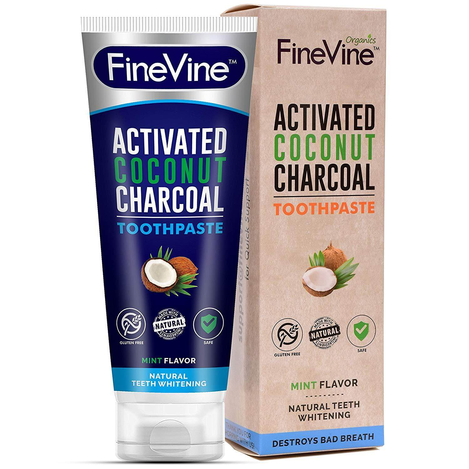 [ iiMONO ] Charcoal Teeth Whitening Toothpaste - Made in USA - WHITENS TEETH NATURALLY and REMOVES BAD BREATH - Best Natural Vegan Organic Toothpaste