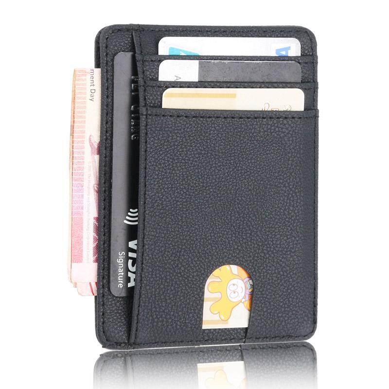 Detail Gambar RFID Dompet Pria Vintage Kredit Pemegang Kartu Bisnis Merek Pria Dompet Mini Dompet Terbaru