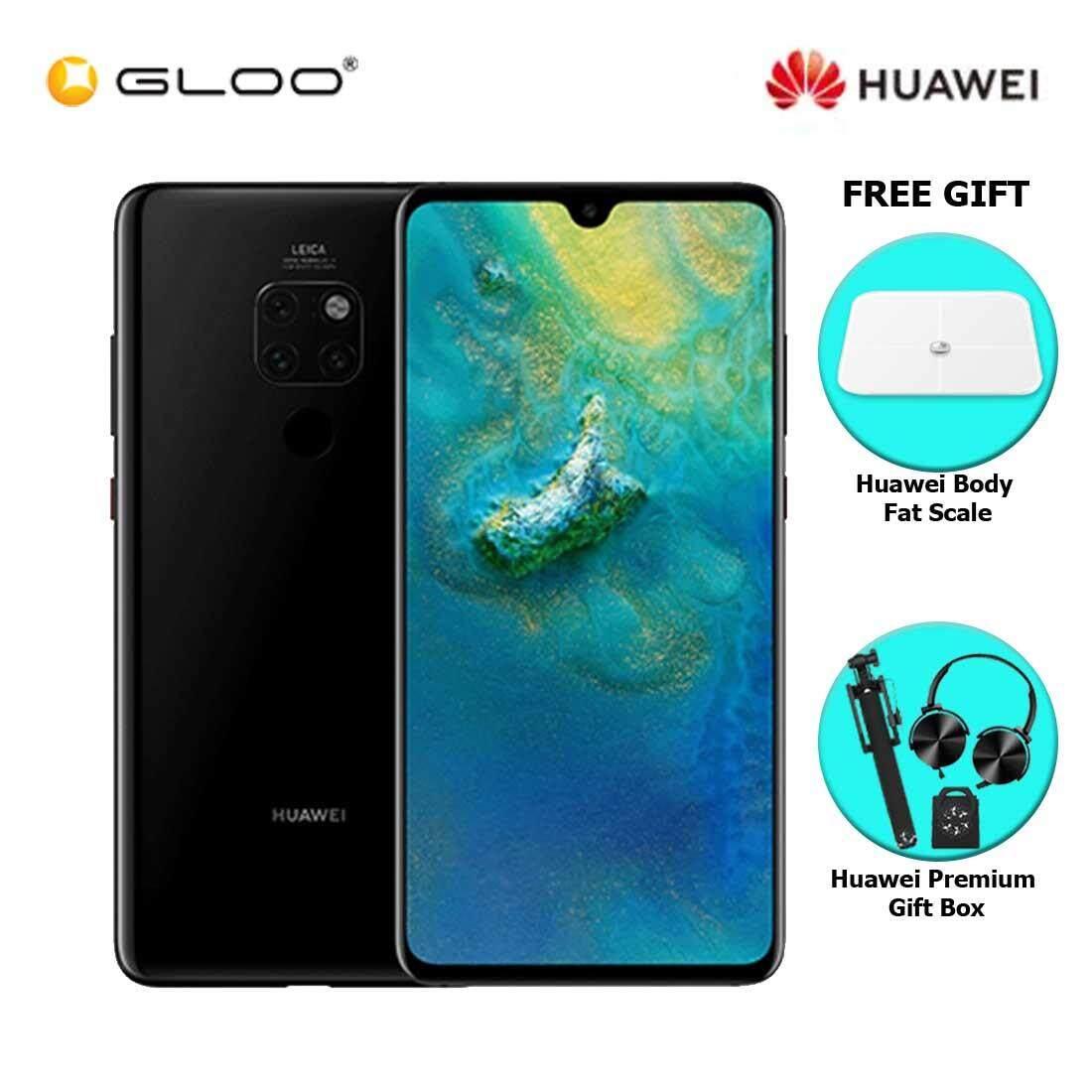 Huawei Mate 20 6GB+128GB Black + FREE Huawei Body Fat Scale 6901443198375,Premium Gift Box (Headset/Selfie Stick/iRing)