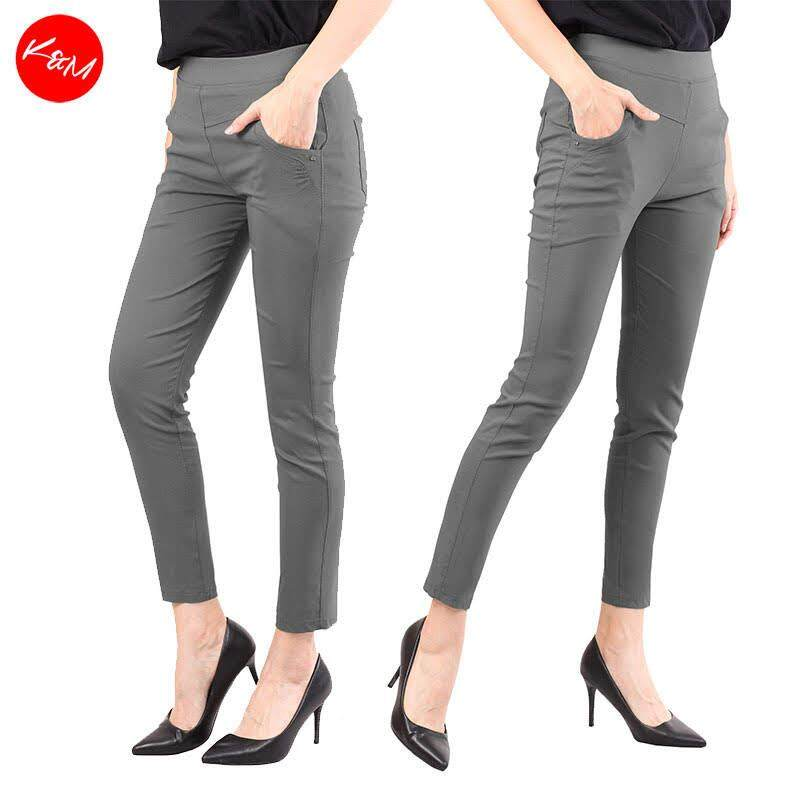 KM Plus Size Stretchable Pants [M12736]
