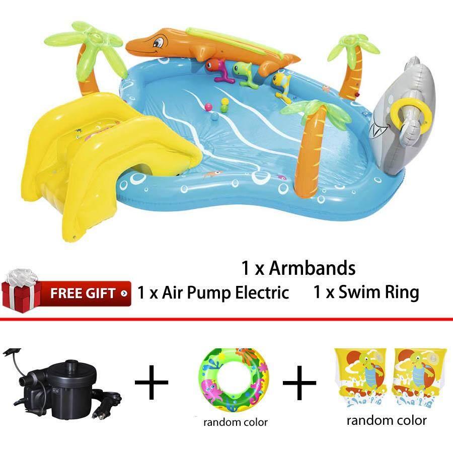 Bestway 53067 Sea Life Play Center Swim Pool 2.80m x 2.57m x 87cm Summer Garden Kids Family Swimming Pool