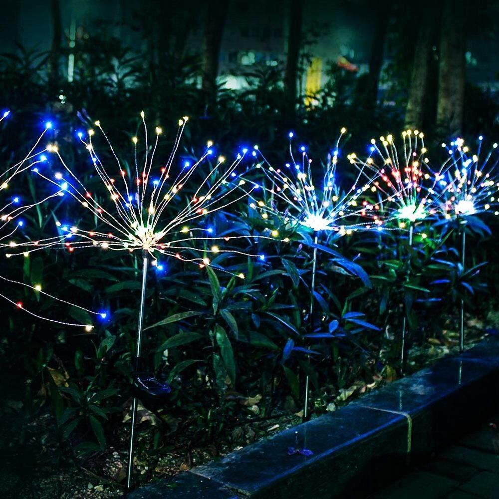 20LED Waterproof Solar Powered Lawn Light Peach Tree Lamp Outdoor Garden Road