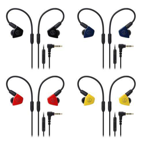 Audio Technica ATH-LS50iS In-Ear Headphones with In-line Mic and Control Detachable A2DC Connector Dual Symphonic Drivers