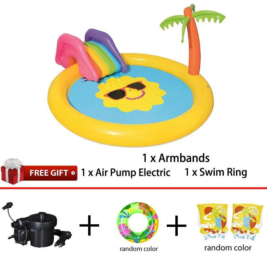 Bestway 53071 Sunnyland Splash Play Pool 2.37m x 2.01m x 1.04m Summer Garden Kids Family Swimming Pool