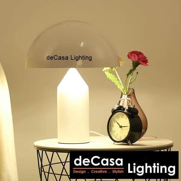 New Arrival E14 LED Bulb White Designer Modern Decorative Designer Table Lamp DECASA (TB-MUSH-WH)