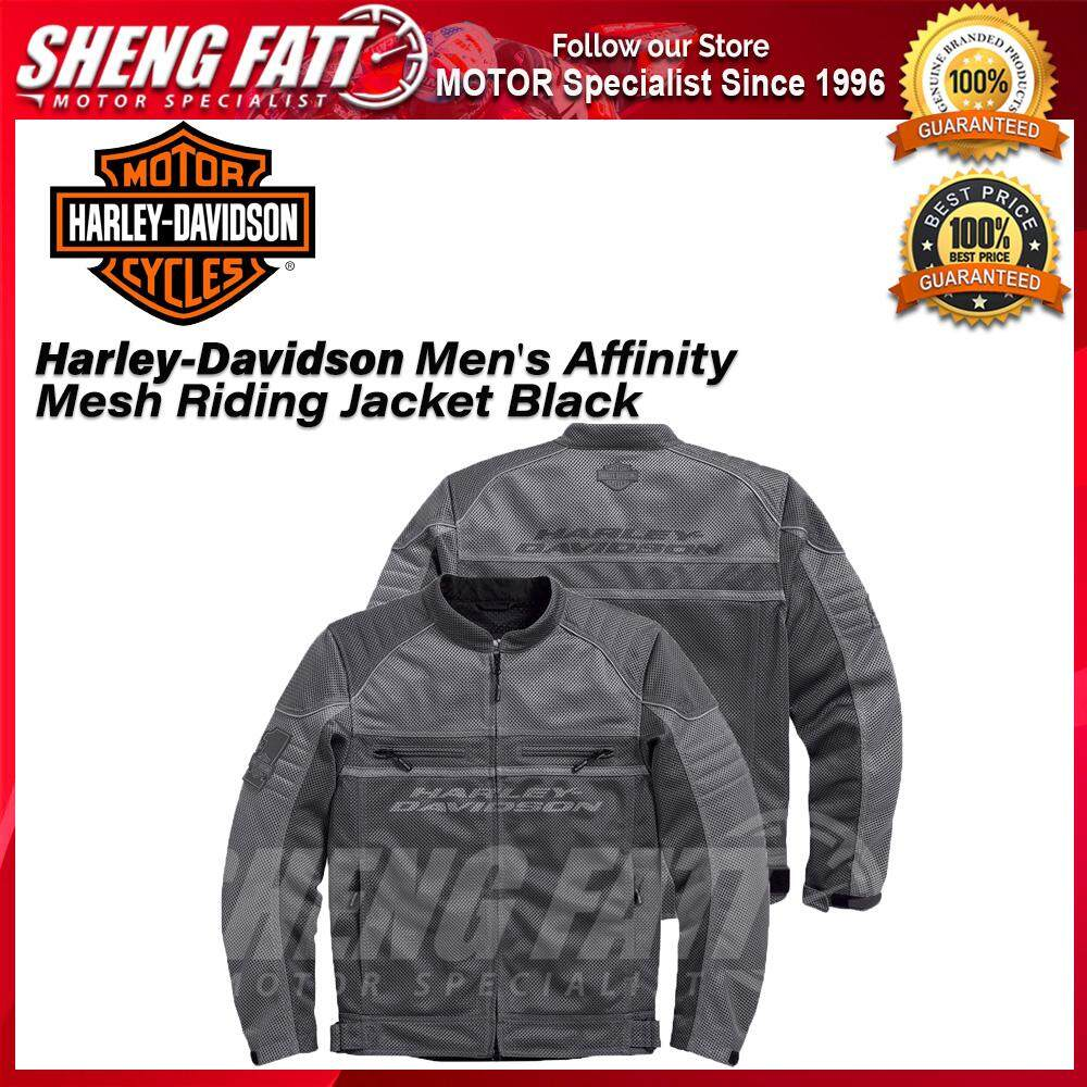 Harley-Davidson Mens Men's Affinity Mesh Riding Jacket Black - [ORIGINAL]