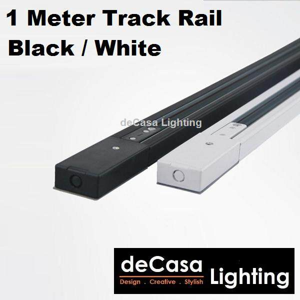 1M Track Rail for Track Light Railing Frame Fitting Track Black / White for Track Lights Lampu Siling (MZG-1M-TRACK)