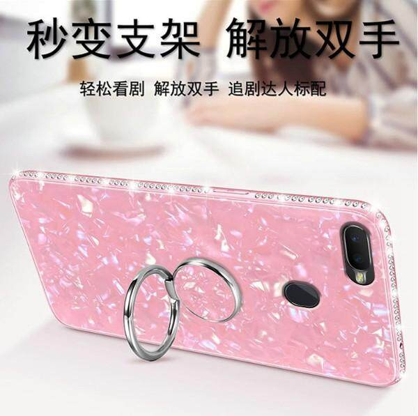 Review Tempered Glass Back Case For Oppo A7 Diamond Cover