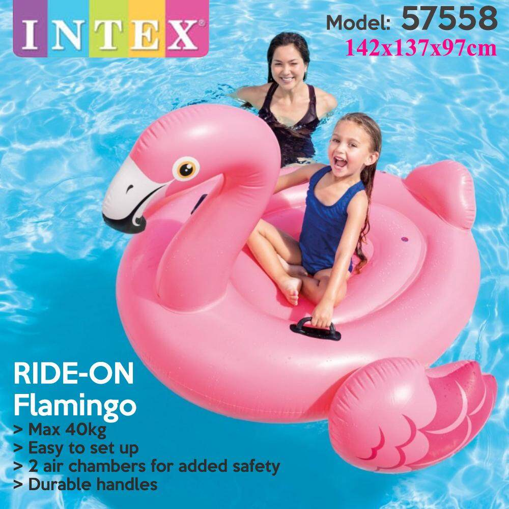Intex 57558 Inflatable Ride On Giant Flamingo Pool Float Raft Lounge Large Pool Toy Swimming Pool Summer Fun Games Party Tube Inflatable Raft