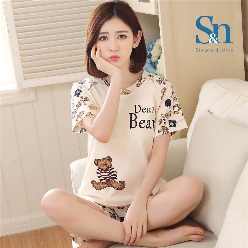 【SIMPLE & NICE】Fashionista Women Casual Summer Wear Set (Size: M-XXL)