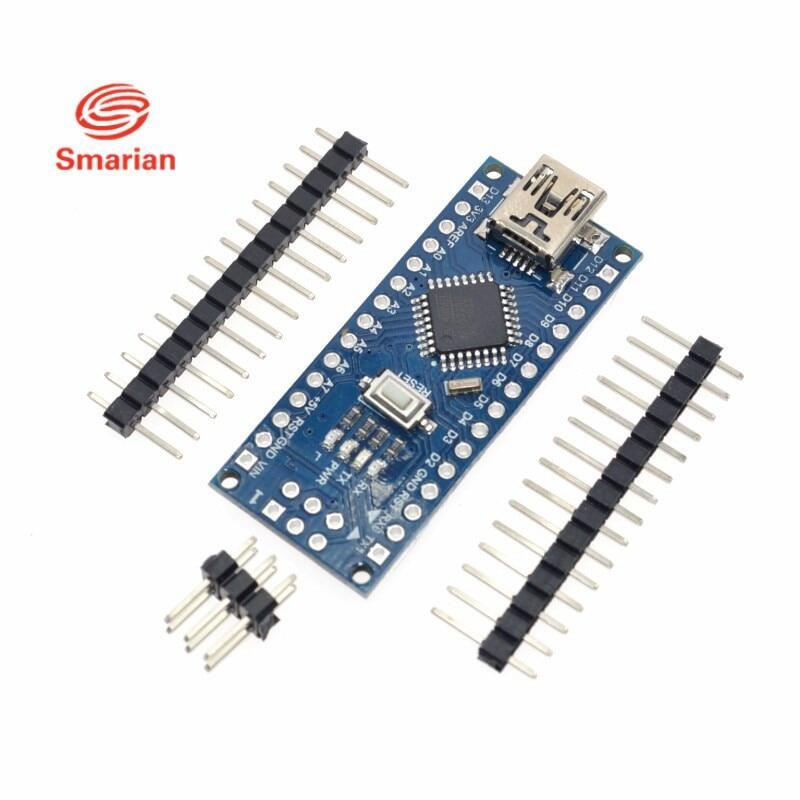 Chính Thức Smarian Nano Mới CH340/ATmega328P MicroUSB Tương Thích Cho Arduino Nano V3.0 Tự Làm Đồ Chơi Bộ Robot Một Phần Tự Làm RC đồ Chơi Bộ ELEC