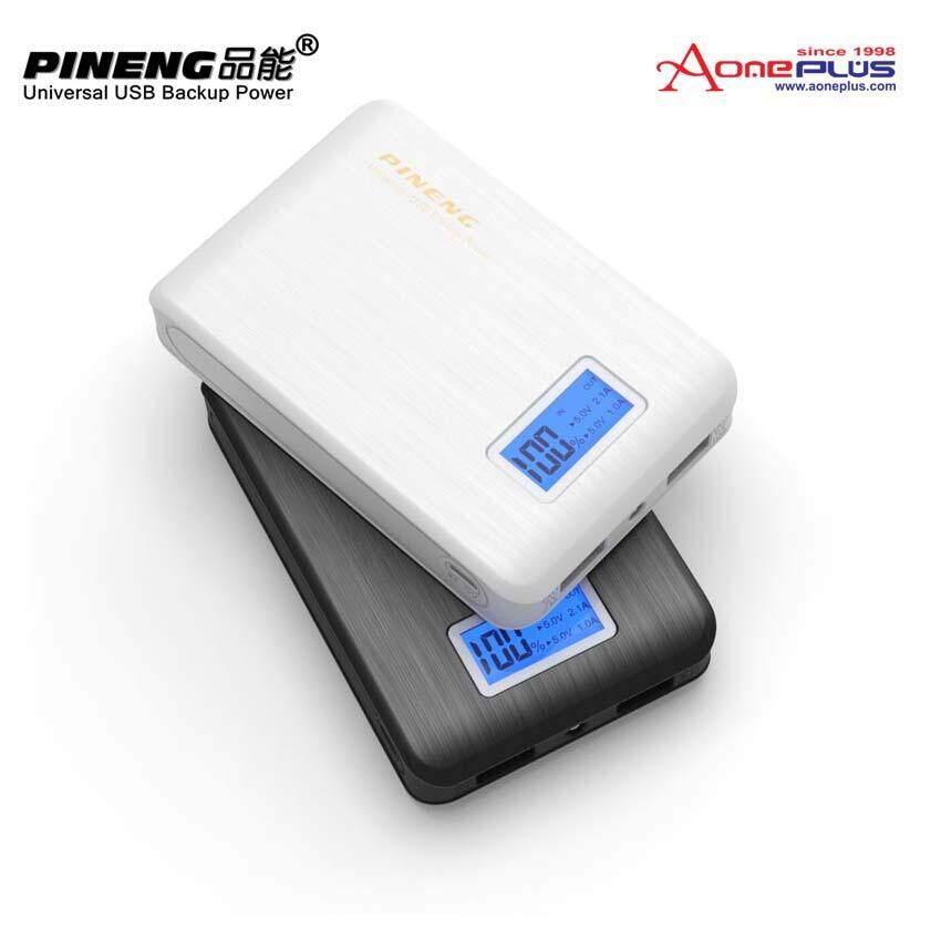 (Genuine) PINENG PN-928 10000mAh Dual Output Power Bank - Bl...