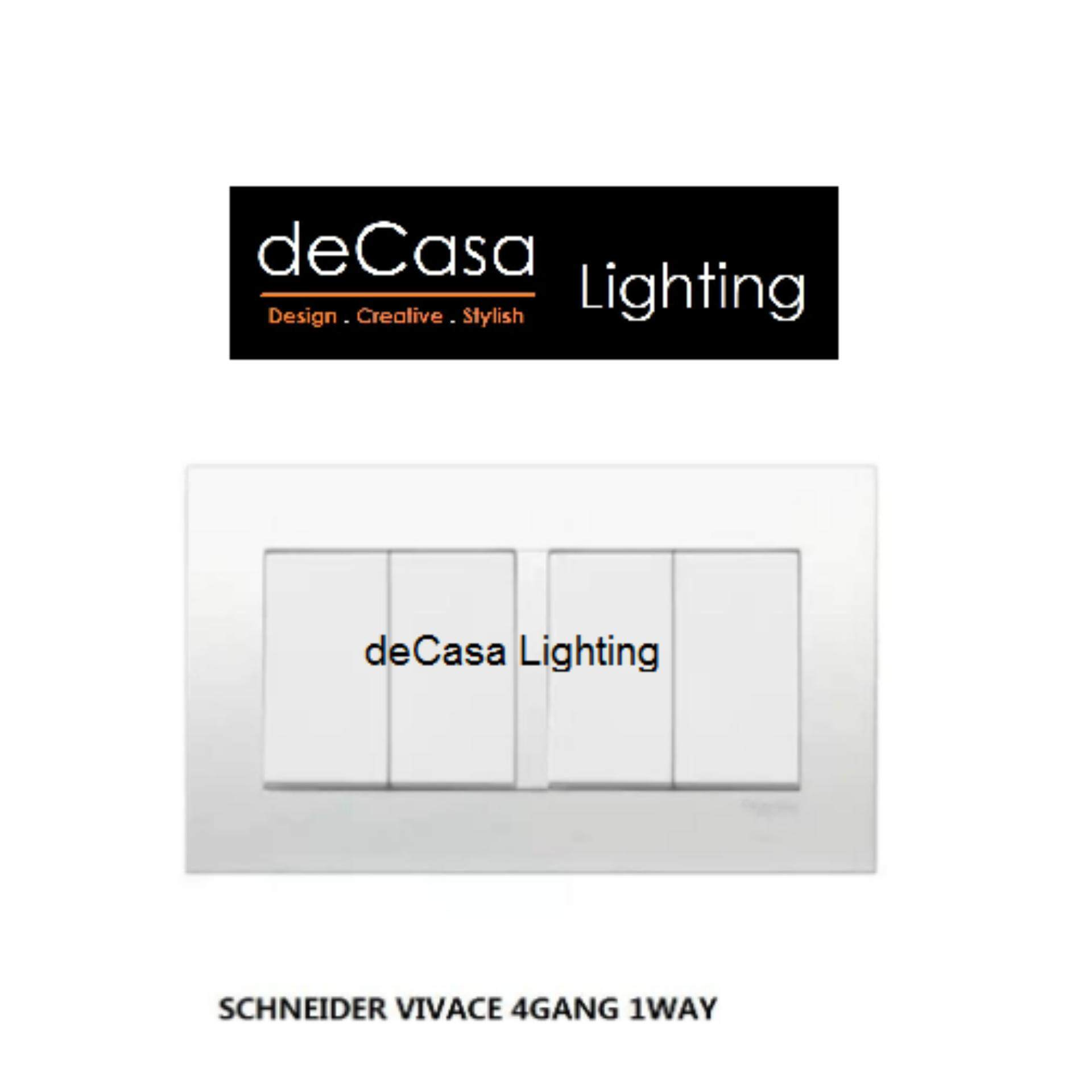 SCHNEIDER VIVACE SWITCH 4 GANG 1 WAY WHITE SWITCH