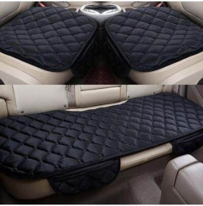 Car Seat Cushion Seat Cover Set Front & Back Seat Cover (Black)
