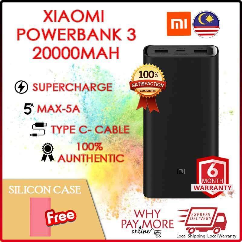 [ORIGINAL][SHIP TODAY]2019 XiaoMi Mi Xiaomi Powerbank 3 Pro 20000mAh USB-C Two-way 45W QC3.0 Fast Charge Power Bank