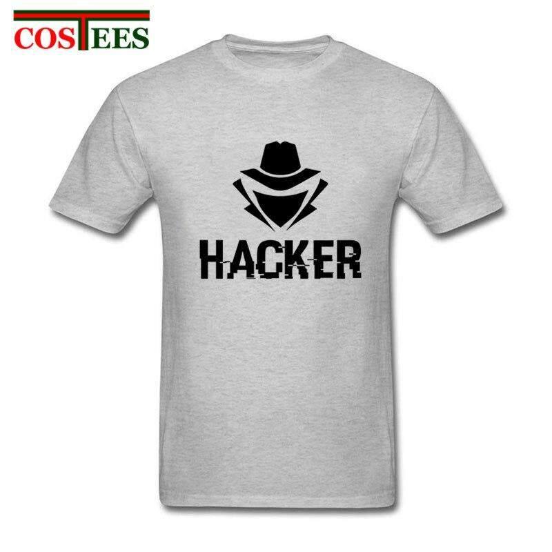 Computer Hacker T Shirt homme new fashion cartoon design Hacker T-Shirt men short Sleeve