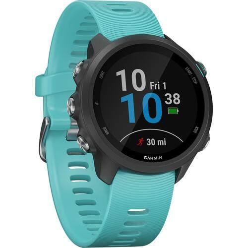 ยี่ห้อนี้ดีไหม  สุราษฎร์ธานี Garmin Forerunner 245 Music GPS Running Smartwatch - [Aqua]
