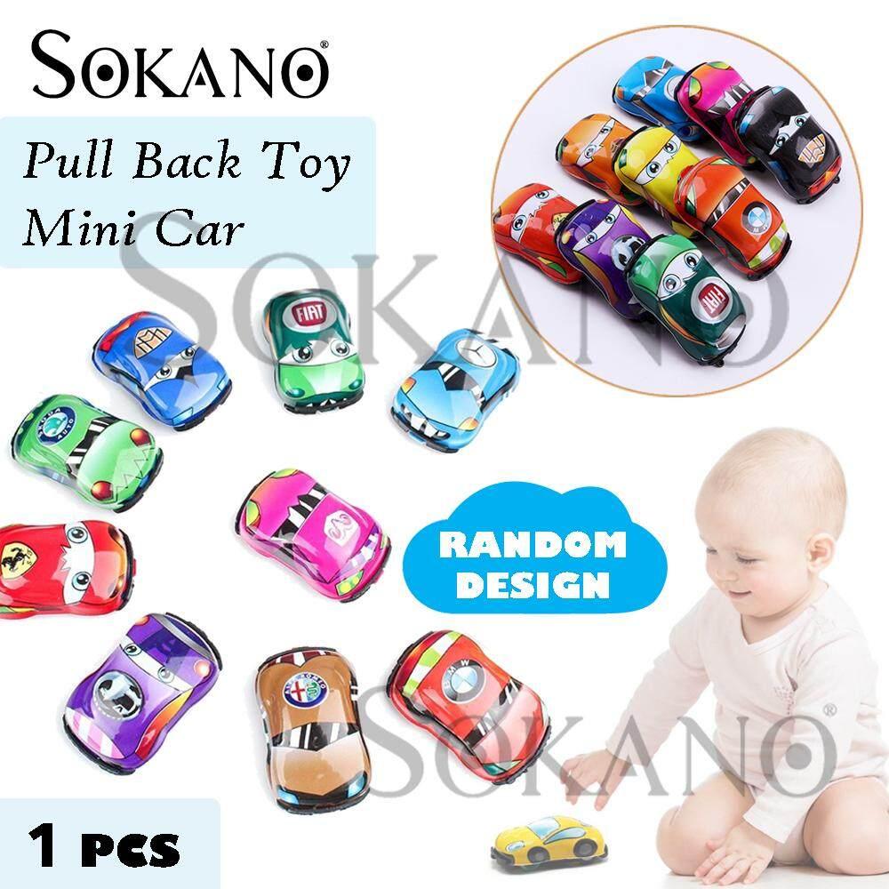 SOKANO TOY Pull Back Mini Car Toy Assorted Mini Plastic Vehicle Set Kereta Mainan Random Design (BUY 10 FREE SHIPPING FOR WEST MALAYSIA)