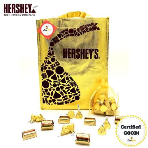 Beehive Hershey's Chocolate Golden Gift Pack [1 Bag (Red/Yellow)]