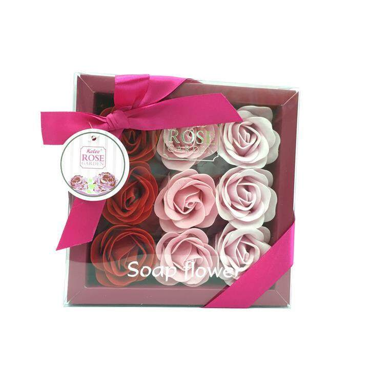 Beautiful Red Rose Flowers In Box 9pc