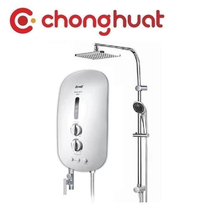 Alpha SMART 18I PLUS Inverter DC Pump Water Heater with Rain Shower - White