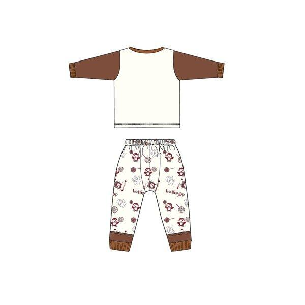 Barney And Friends Casual Homewear 100% Cotton 0mth to 2yrs - Brown Colour