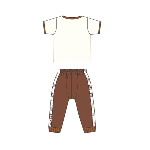 Barney And Friends Casual Short Sleeve 100% Cotton 0mth to 2yrs - Brown Colour