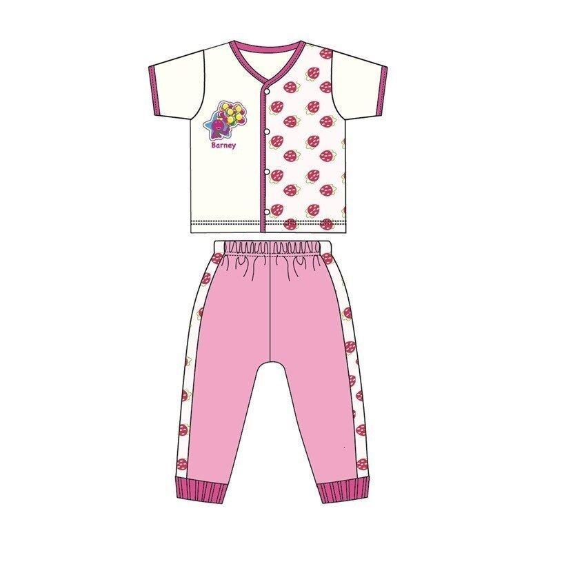 Barney And Friends Casual Short Sleeve 100% Cotton 0mth to 2yrs - Pink Colour