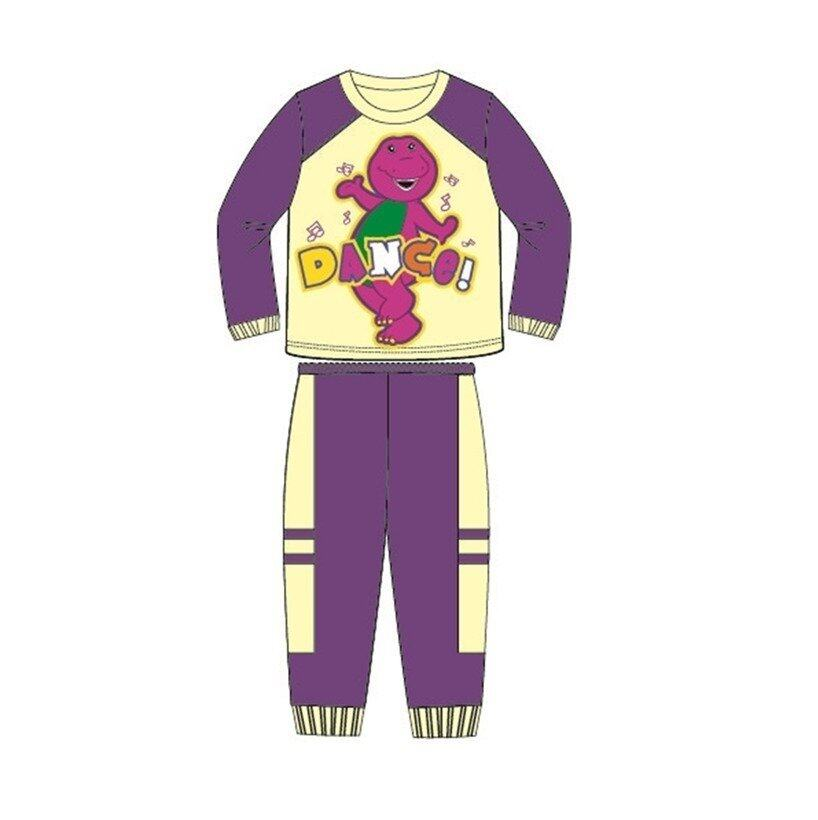 Barney And Friends Pajamas 100% Cotton 1yrs to 4yrs - Purple And Yellow Colour
