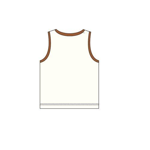 Barney And Friends Sleeveless Homewear 100% Cotton 0mth to 2yrs - Brown Colour